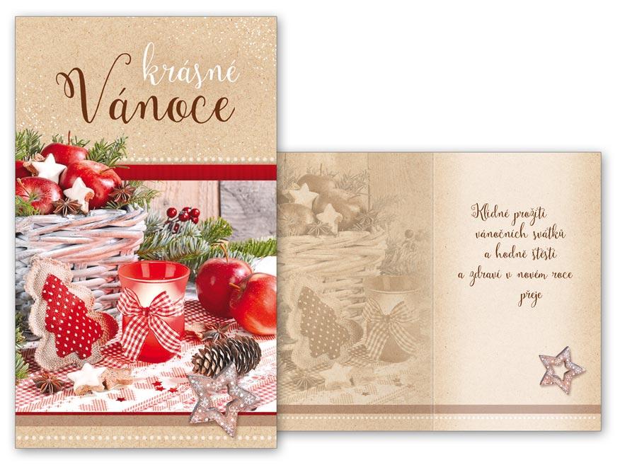 Přání Vánoční malé V23-122 Z