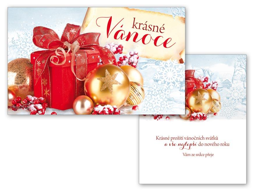 Přání Vánoční malé V23-124 Z