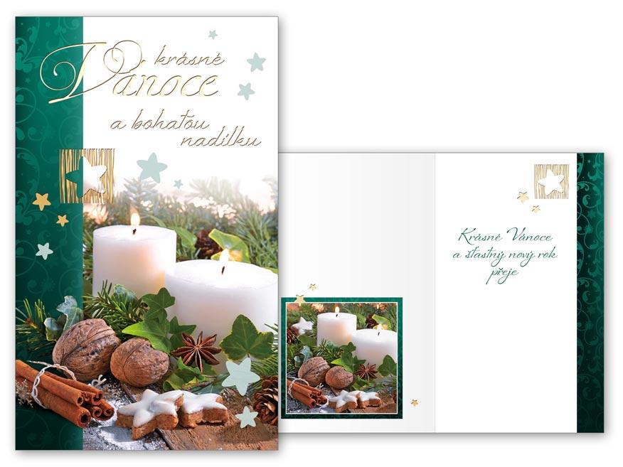 Přání Vánoční malé V23-127 Z
