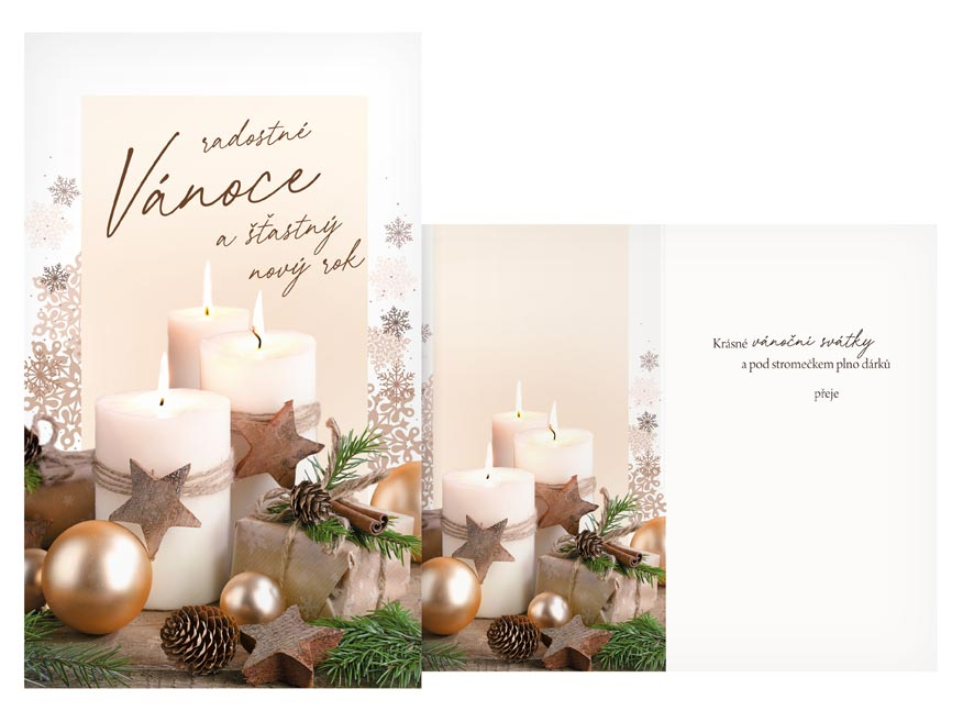 Přání Vánoční malé V23-140 Z