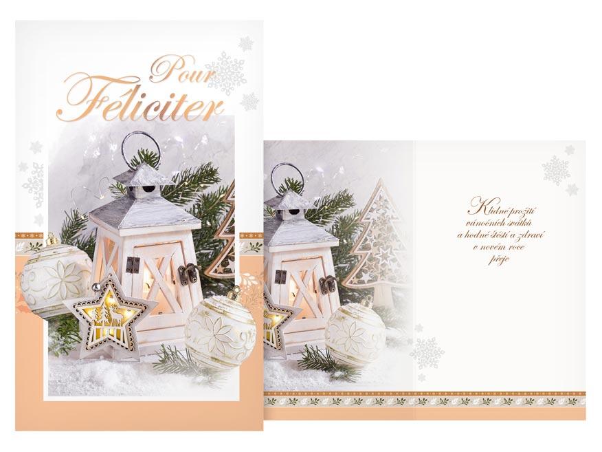 Přání Vánoční malé V23-142 Z